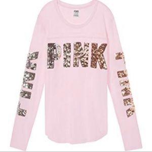 Victoria's secret pink bling tee